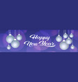 merry christmas happy new year concept white balls vector image vector image