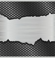 metal perforated background with torn brushed vector image