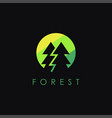minimalist pine forest logo icon template vector image vector image