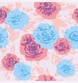 pastel color roses vector image