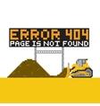 Pixel art style game error 404 vector image vector image