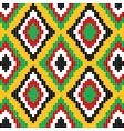 pixelated colorful ethnic motifs pattern vector image vector image