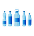 plastic bottles set on white background vector image vector image
