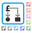 pound cashflow framed icon vector image vector image