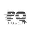 pq p q zebra letter logo design with black and vector image vector image