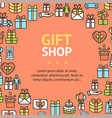 present gift shop signs round design template thin vector image vector image