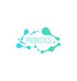 probiotic bacteria vector image