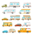 Recreational Vehicle Icons Set vector image vector image