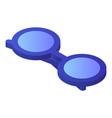 round eyeglasses icon isometric style vector image vector image