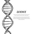 science dna code structure icon poster vector image vector image