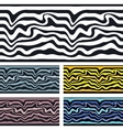 seamless pattern background Zebra and wave vector image vector image