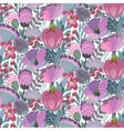 seamless pattern with flowers leaves vector image vector image