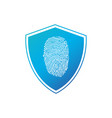 security concept icon fingerprint shield business vector image vector image