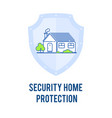 security protection outline vector image