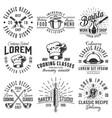 set of emblems vector image