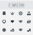 set of simple luxury icons vector image vector image