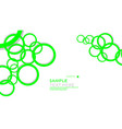 simple circles background with color green and vector image vector image