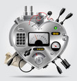sophisticated electronic device in the form vector image