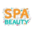 Spa and Beauty - Flat Style Thin Line Art Design vector image vector image