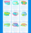 spring best offer promo labels best prices vector image vector image