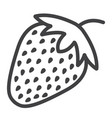 strawberry line icon fruit and diet vector image vector image