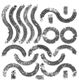 tire tracks set vector image