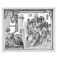 university audience in the fifteenth century vector image vector image