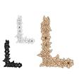 Vintage decorative floral uppercase letter L vector image vector image