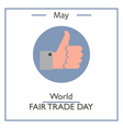 World Fair Trade Day vector image vector image