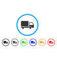 delivery truck rounded icon vector image
