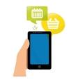 smartphone shopping calendar app vector image