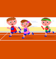 young runners in relay competition