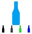 beer bottle flat icon vector image