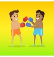 Two Man Boxing Sports Banner vector image