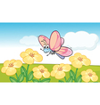 A smiling butterfly vector image