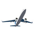 airplane icon isolated on white background vector image