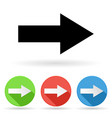 arrow icon colored set of right arrow signs vector image vector image