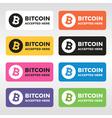 Bitcoin logo vector image vector image