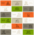 Business cards with houses for your design vector image vector image