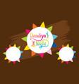 celebrate navratri festival greeting card design vector image vector image