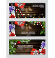 christmas new year web banner set vector image