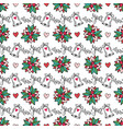 christmas seamless background with bells and vector image vector image