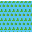 Christmas tree seamless pattern on blue background vector image vector image