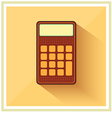 Classic Finance Accounting Calculator flat icon vector image vector image