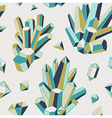 crystal heart - seamless pattern vector image vector image