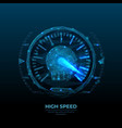 digital polygonal image high speed concept vector image