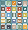 Electrical Machine flat icons on blue background vector image