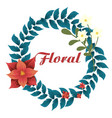 floral crown flowers white background image vector image