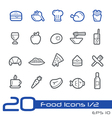 Food and Drink Icons Outline Series vector image vector image
