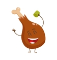 Funny roasted fried grilled chicken leg vector image vector image